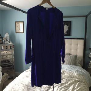 EUC DvF Diane Von Furstenberg Sz 8 Blue Purple Tie